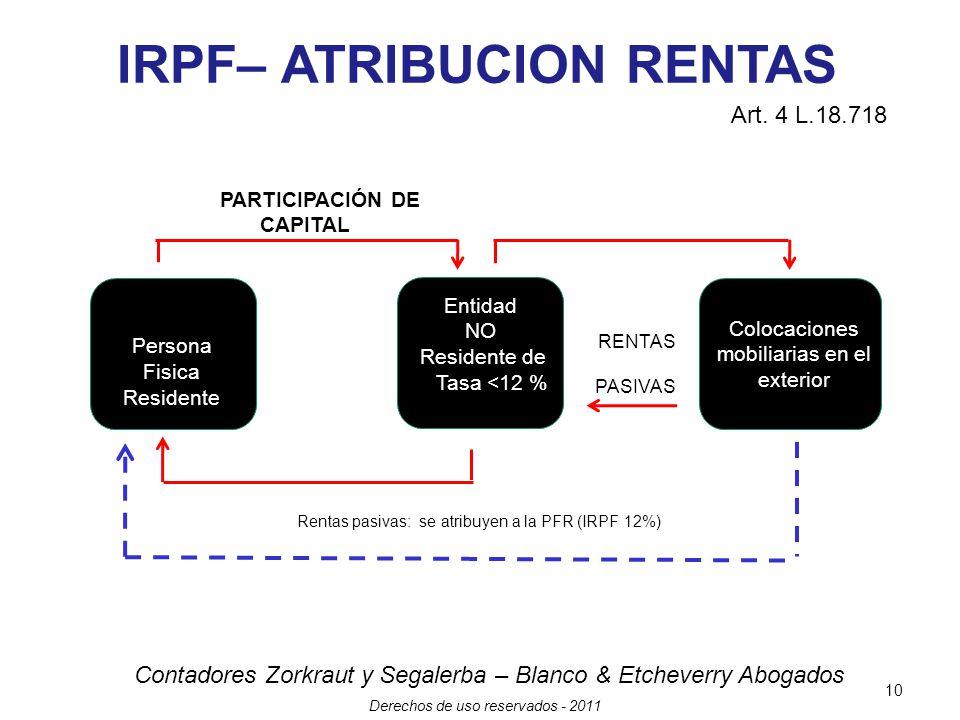 IRPF– ATRIBUCION RENTAS PARTICIPACIÓN DE CAPITAL
