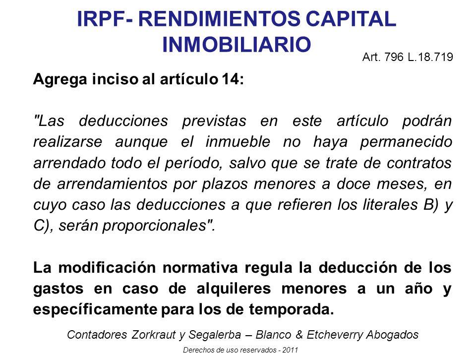 IRPF- RENDIMIENTOS CAPITAL INMOBILIARIO