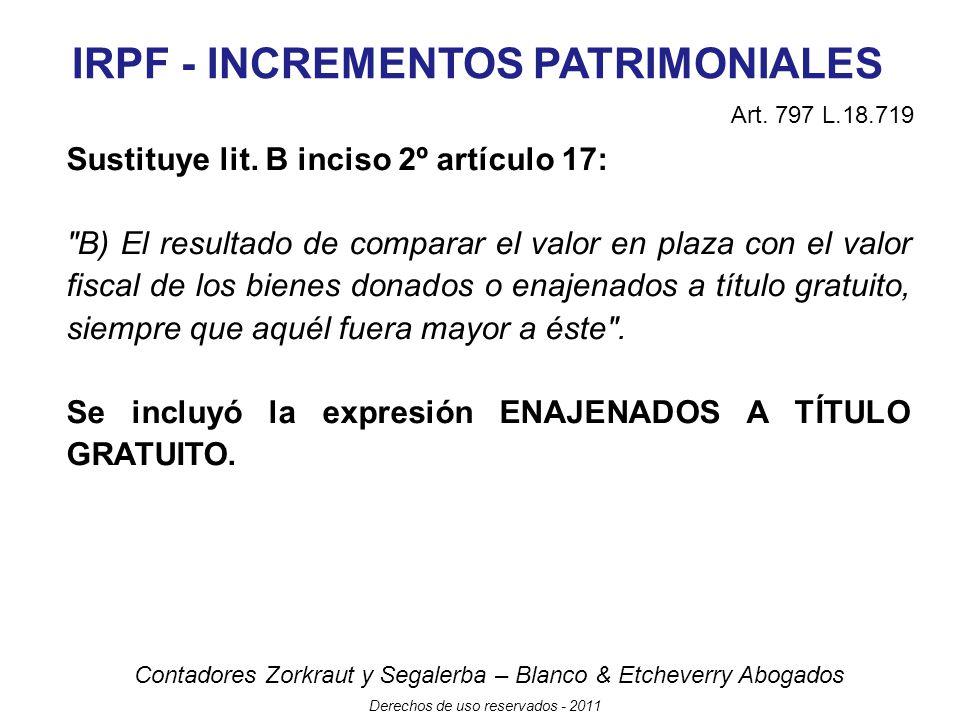 IRPF - INCREMENTOS PATRIMONIALES