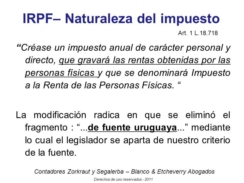 IRPF– Naturaleza del impuesto