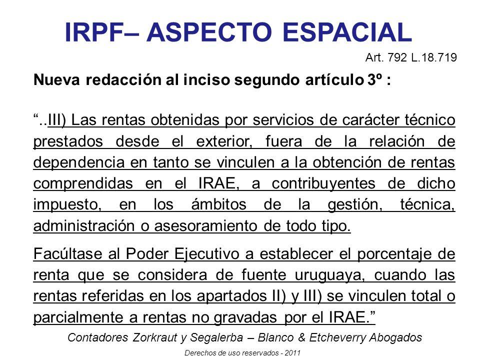 IRPF– ASPECTO ESPACIAL