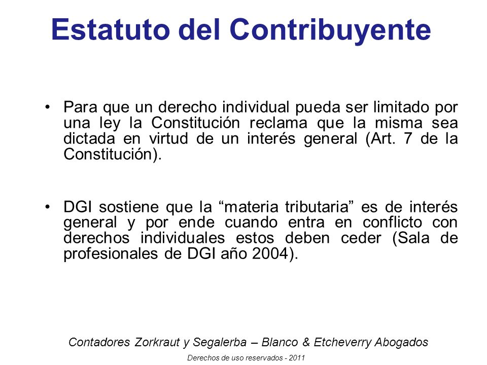 Estatuto del Contribuyente