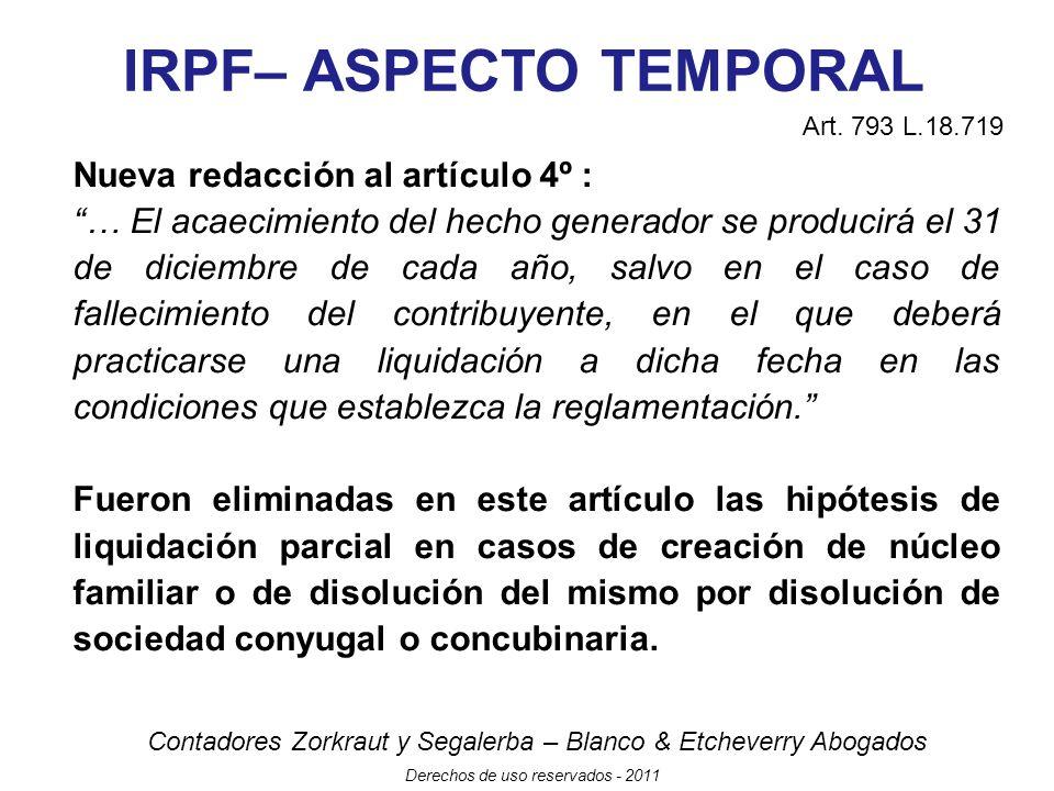 IRPF– ASPECTO TEMPORAL