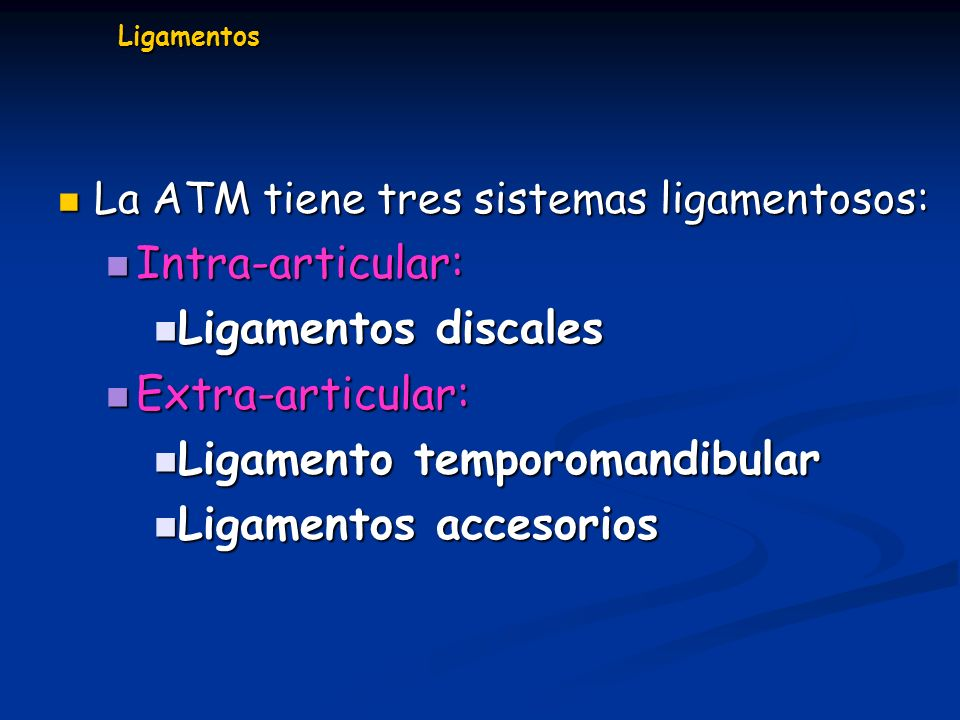 Ligamento temporomandibular Ligamentos accesorios