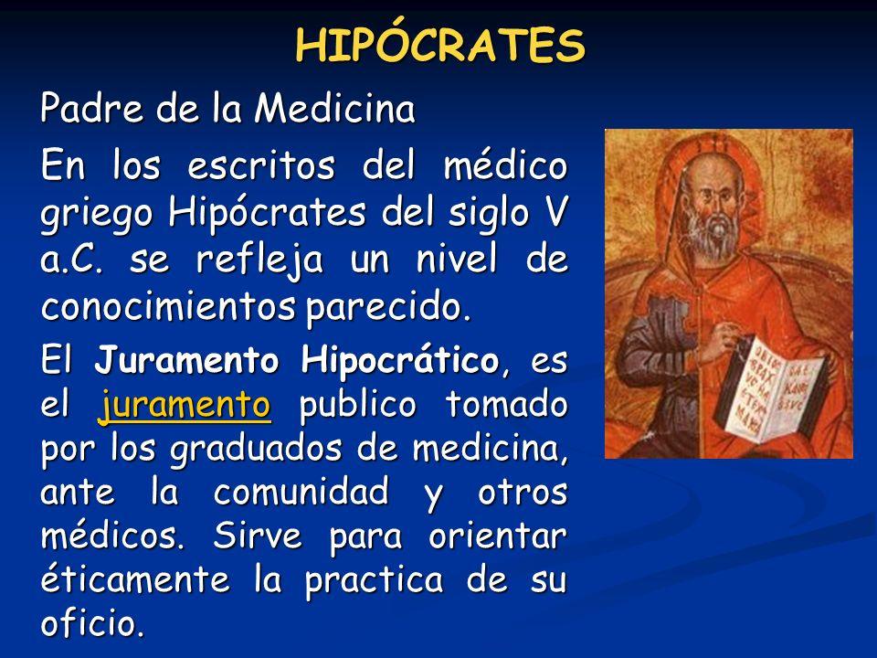 HIPÓCRATES Padre de la Medicina