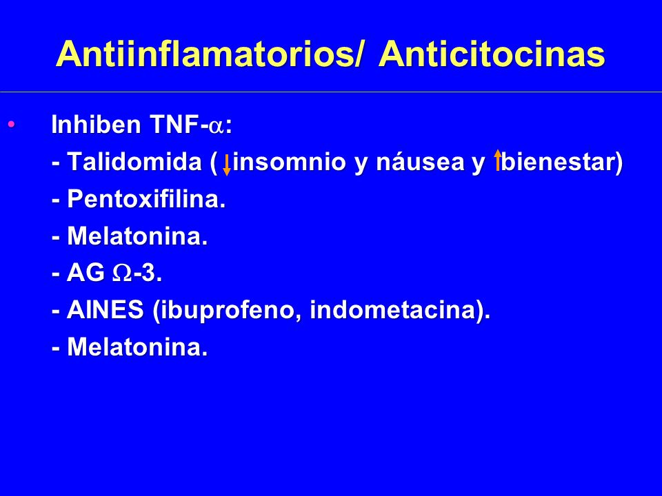 Antiinflamatorios/ Anticitocinas