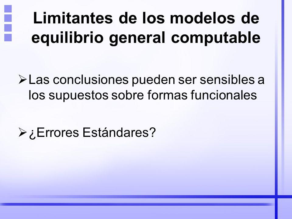 Limitantes de los modelos de equilibrio general computable