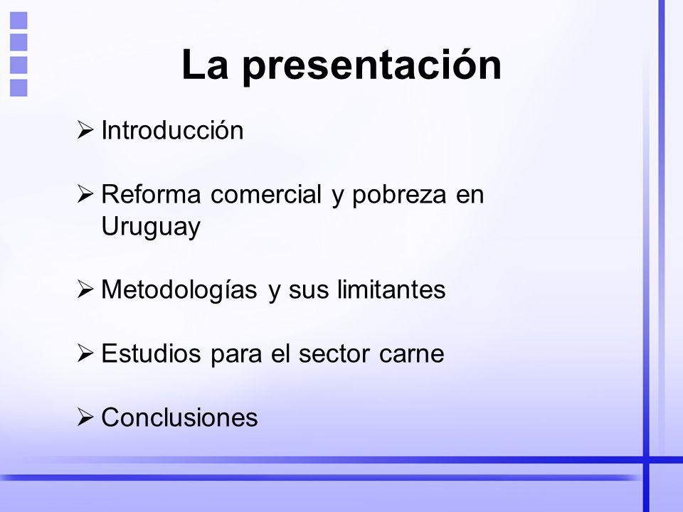 La presentación Introducción Reforma comercial y pobreza en Uruguay