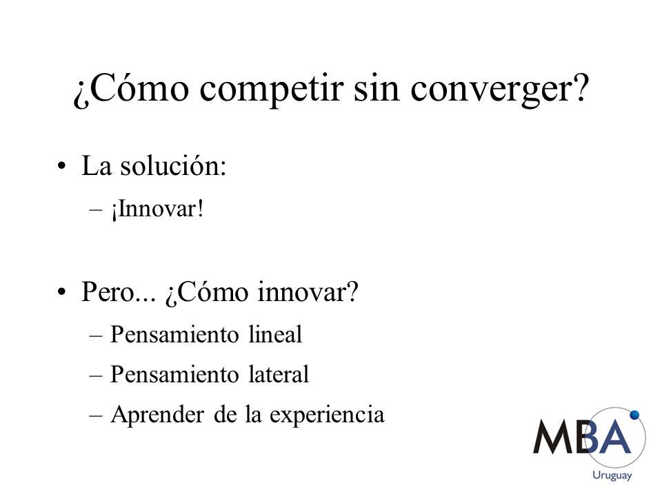 ¿Cómo competir sin converger