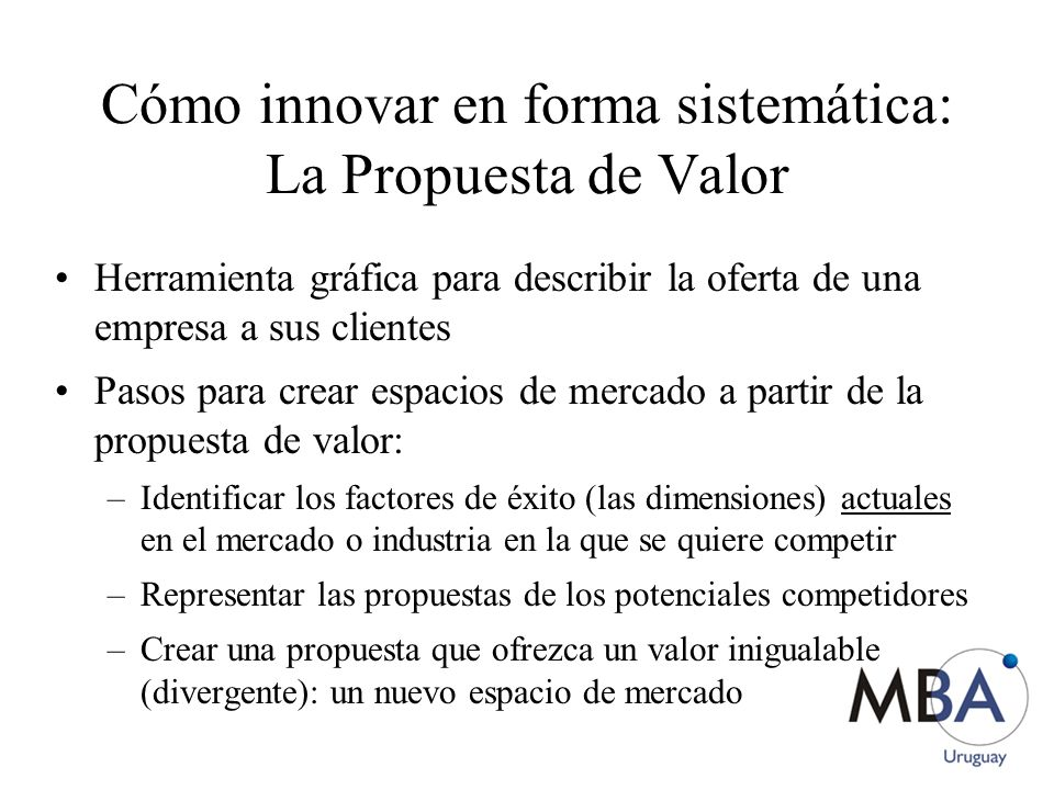 Cómo innovar en forma sistemática: La Propuesta de Valor
