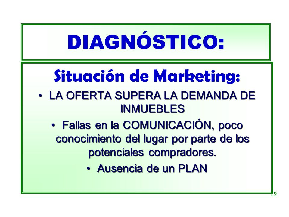 DIAGNÓSTICO: Situación de Marketing: