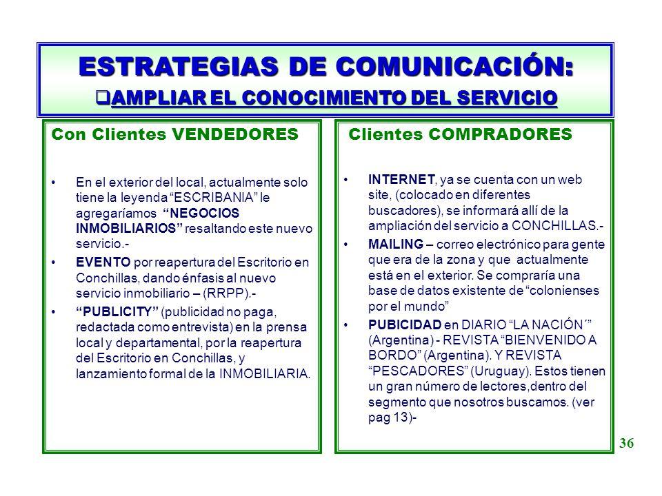 AMPLIAR EL CONOCIMIENTO DEL SERVICIO