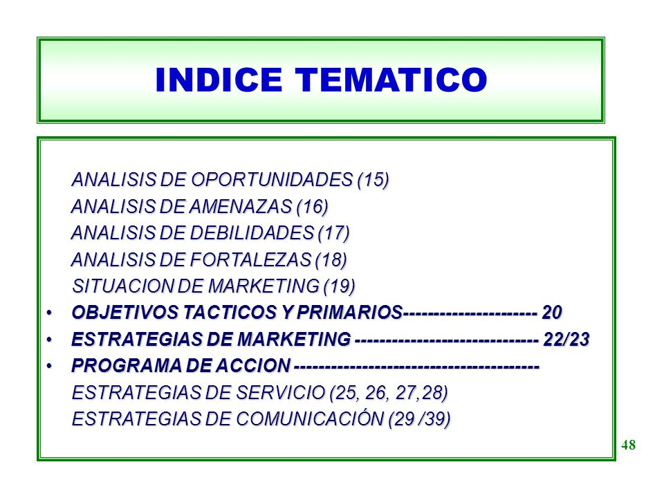INDICE TEMATICO ANALISIS DE OPORTUNIDADES (15)