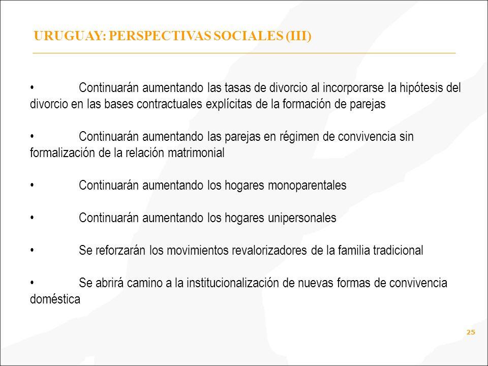URUGUAY: PERSPECTIVAS SOCIALES (III)