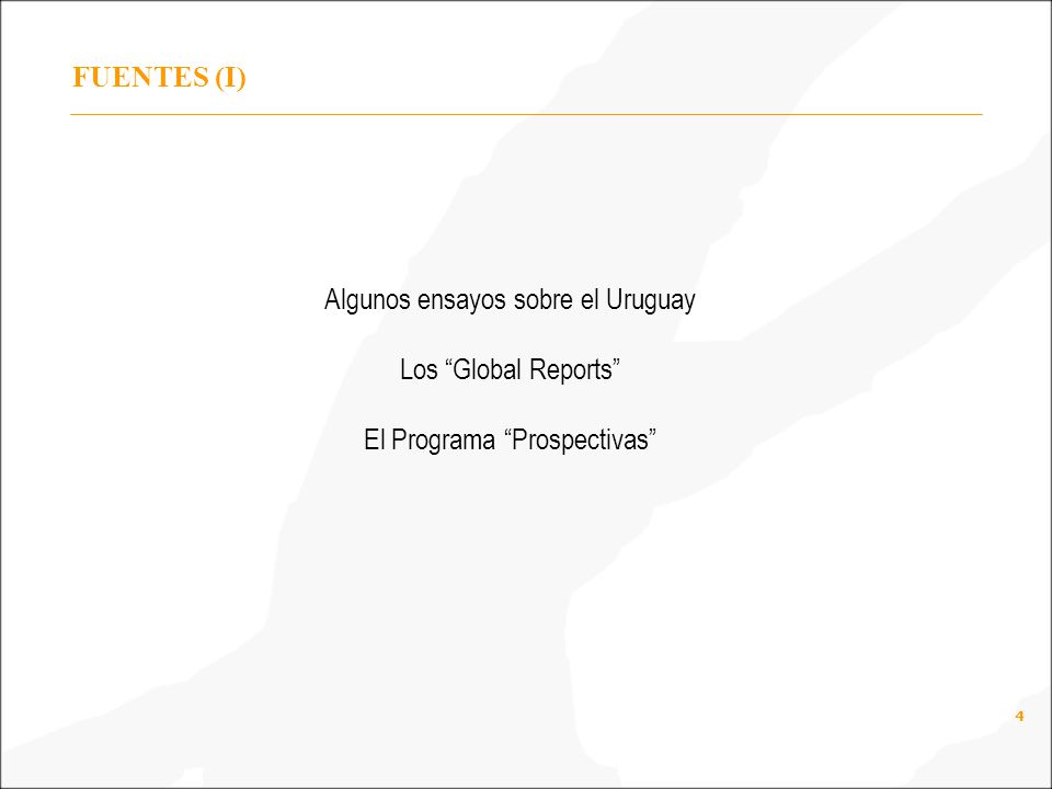 Algunos ensayos sobre el Uruguay Los Global Reports