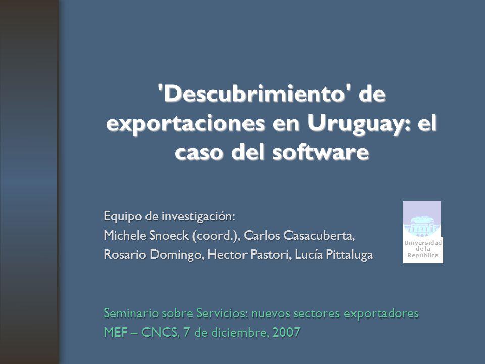 Descubrimiento de exportaciones en Uruguay: el caso del software