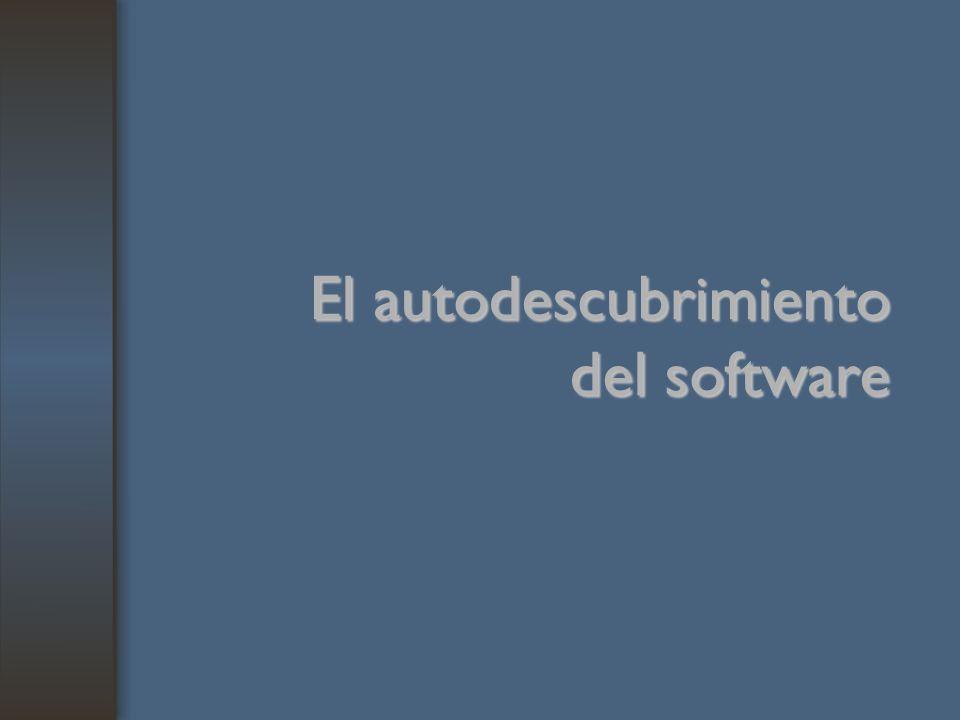 El autodescubrimiento del software