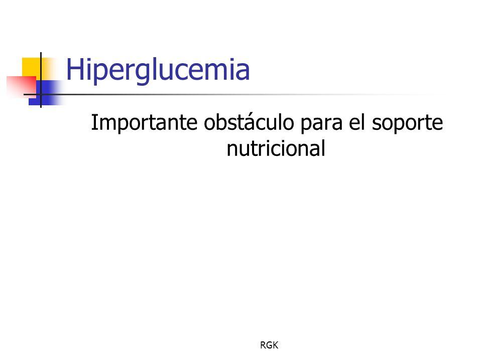 Importante obstáculo para el soporte nutricional