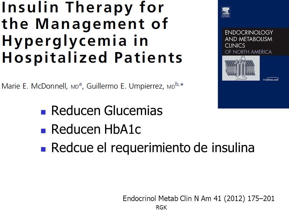 Redcue el requerimiento de insulina