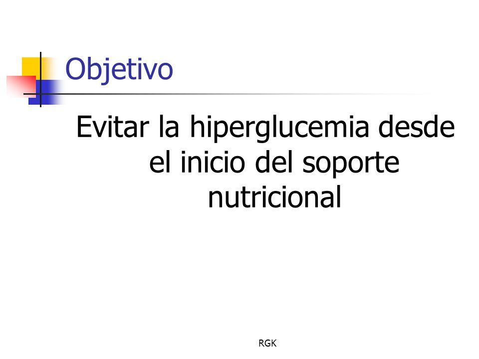 Evitar la hiperglucemia desde el inicio del soporte nutricional