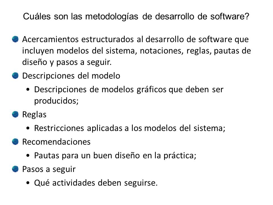 Cuáles son las metodologías de desarrollo de software