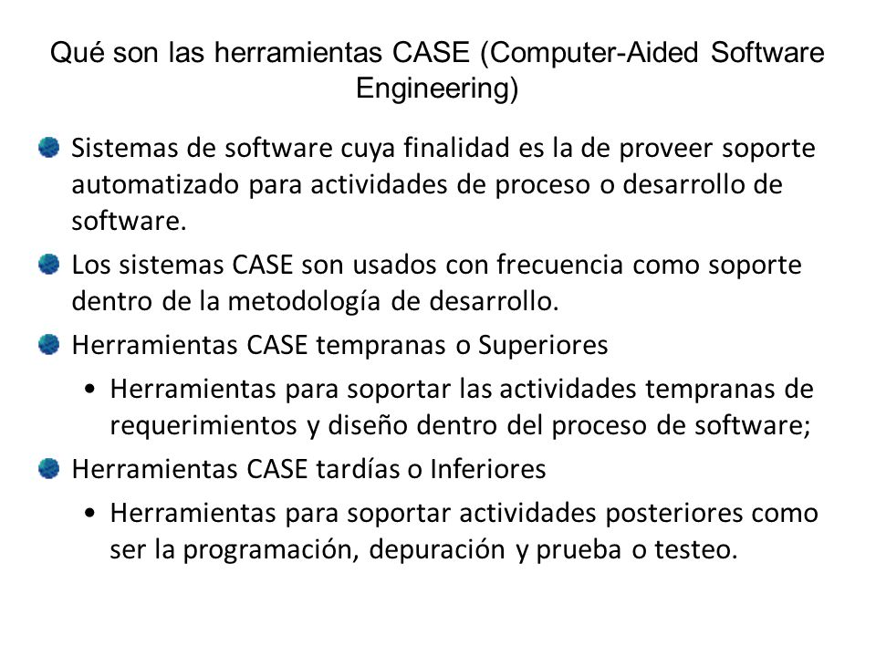 Qué son las herramientas CASE (Computer-Aided Software Engineering)