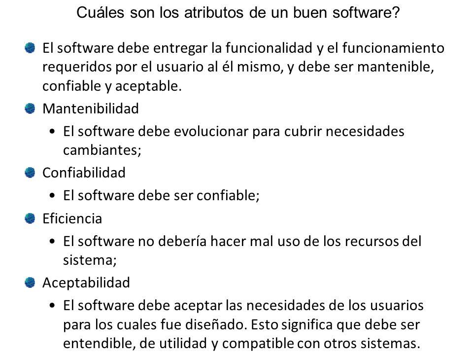 Cuáles son los atributos de un buen software