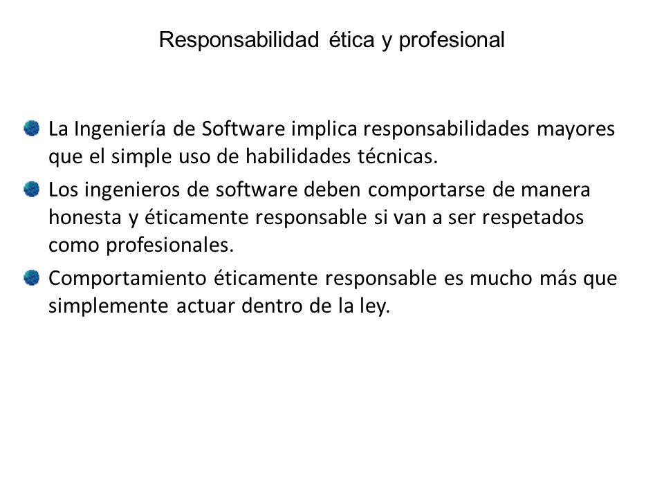 Responsabilidad ética y profesional