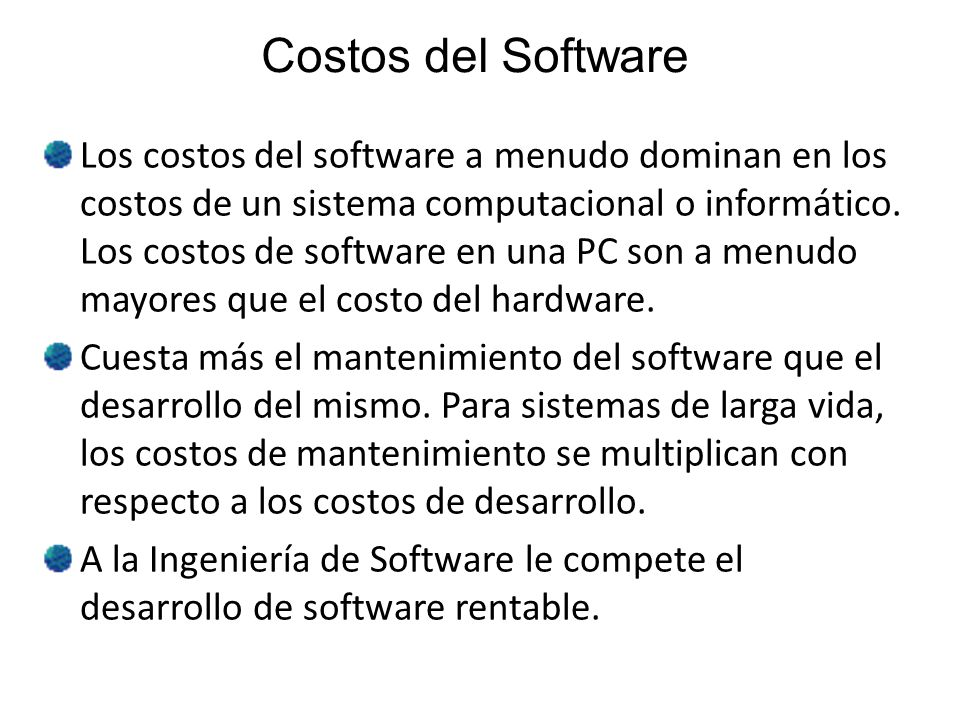 Costos del Software