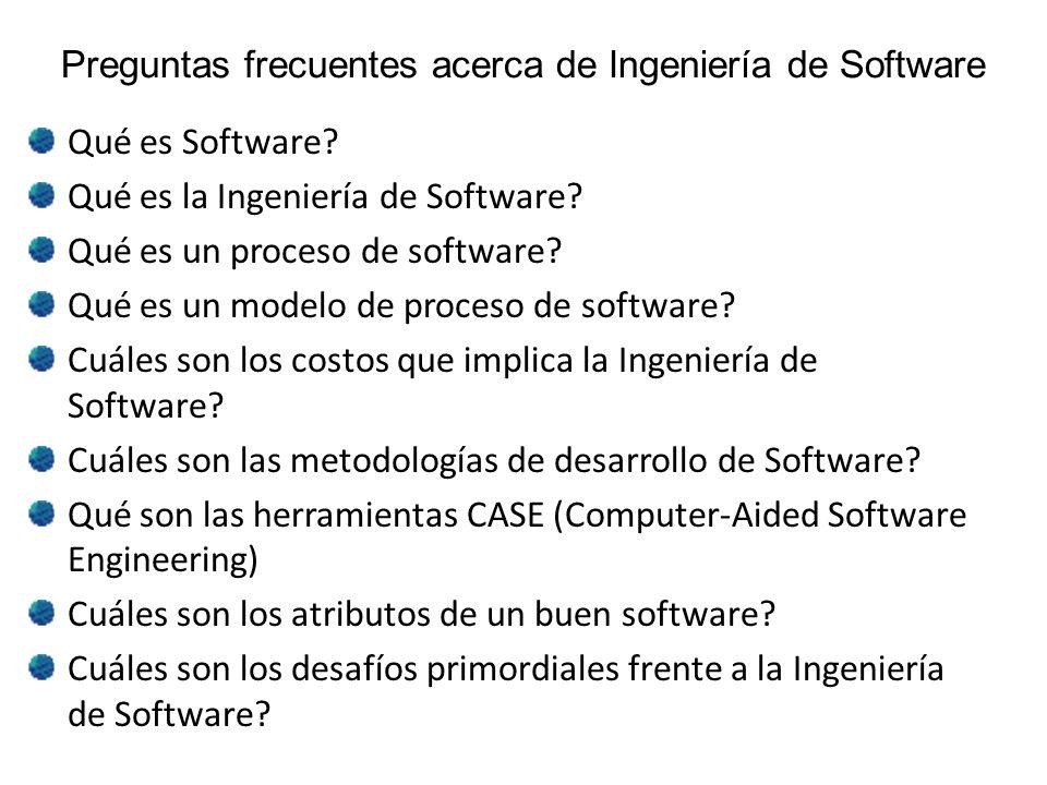 Preguntas frecuentes acerca de Ingeniería de Software