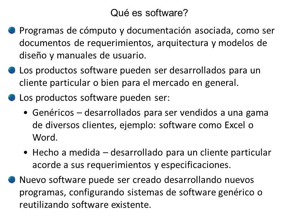 Los productos software pueden ser: