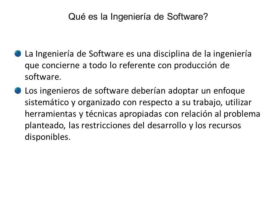 Qué es la Ingeniería de Software