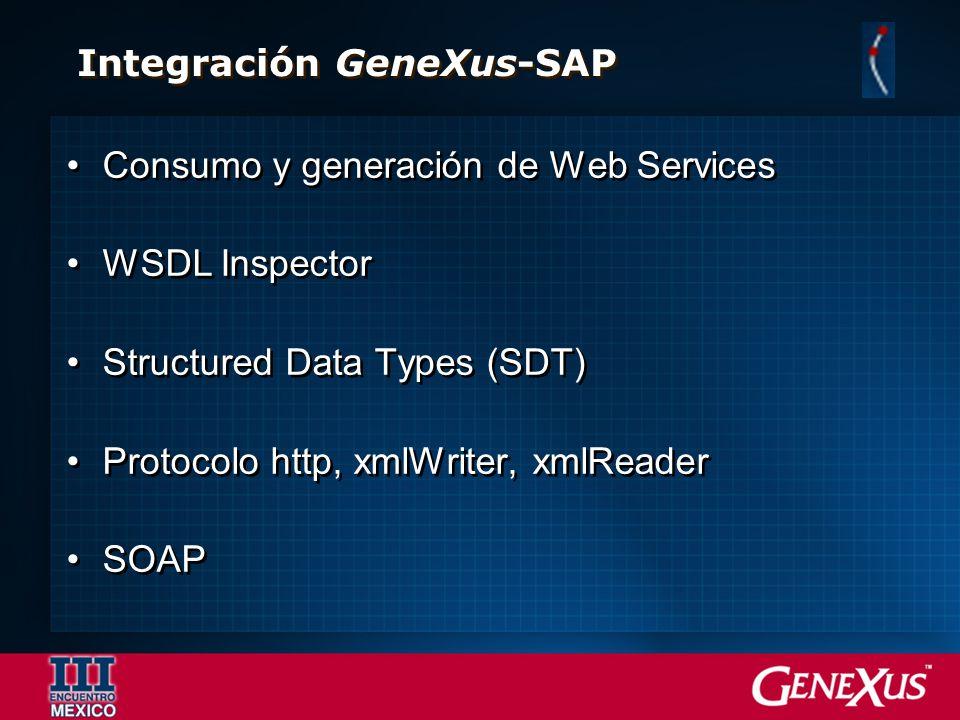 Integración GeneXus-SAP