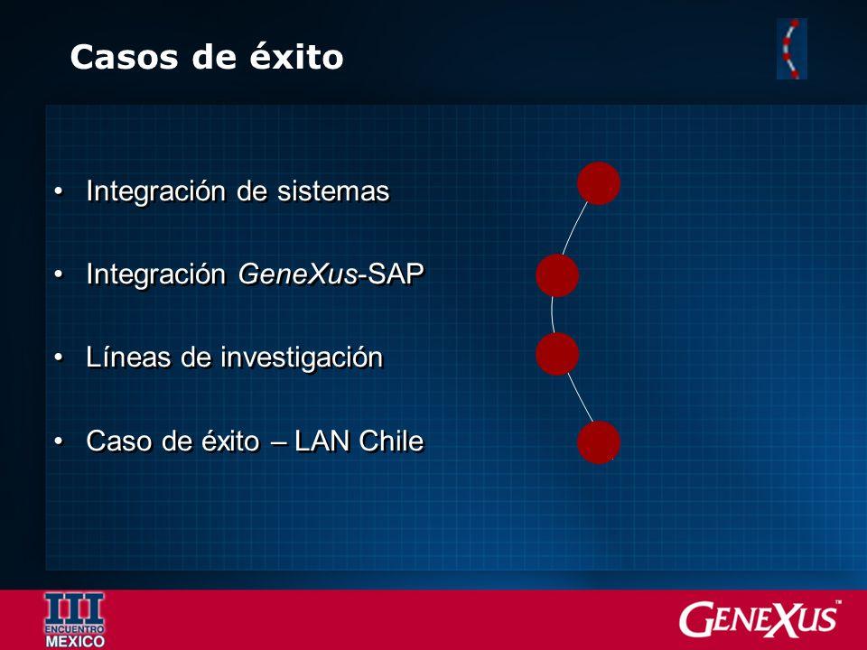 Casos de éxito Integración de sistemas Integración GeneXus-SAP
