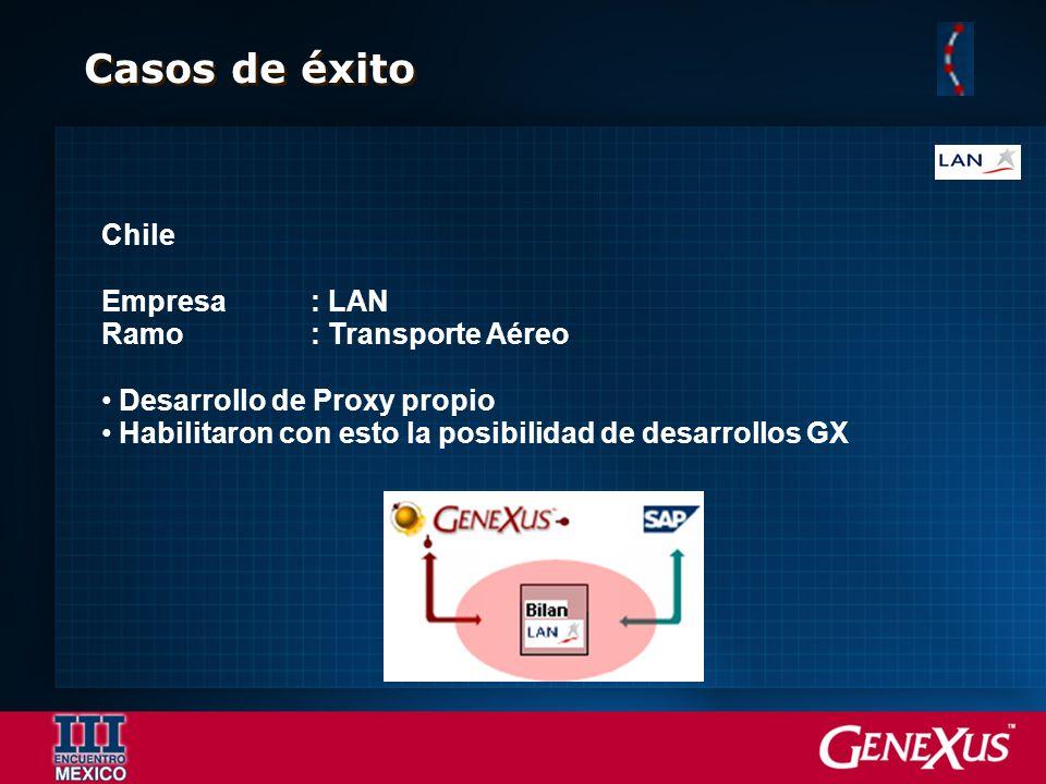 Casos de éxito Chile Empresa : LAN Ramo : Transporte Aéreo