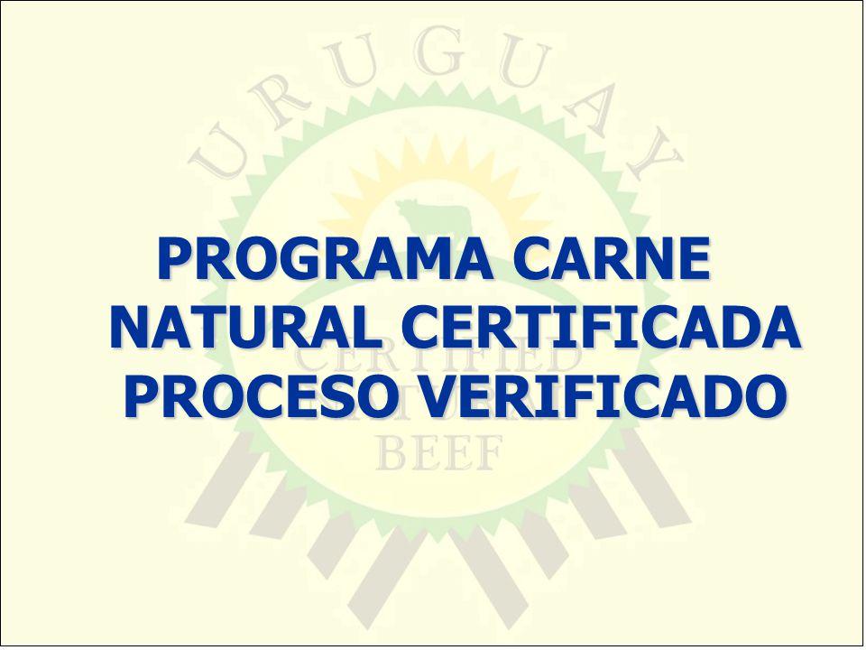 PROGRAMA CARNE NATURAL CERTIFICADA PROCESO VERIFICADO
