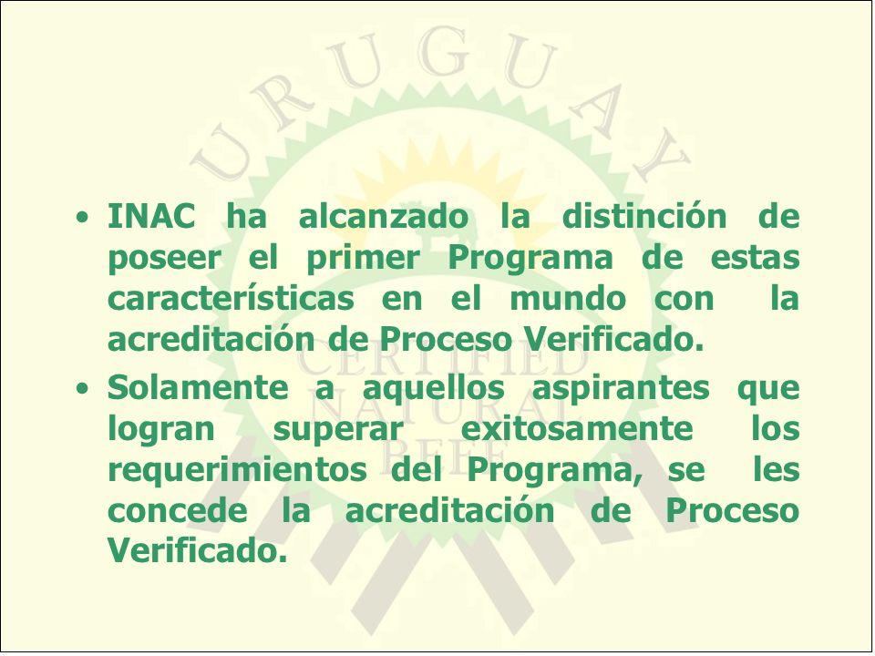 INAC ha alcanzado la distinción de poseer el primer Programa de estas características en el mundo con la acreditación de Proceso Verificado.