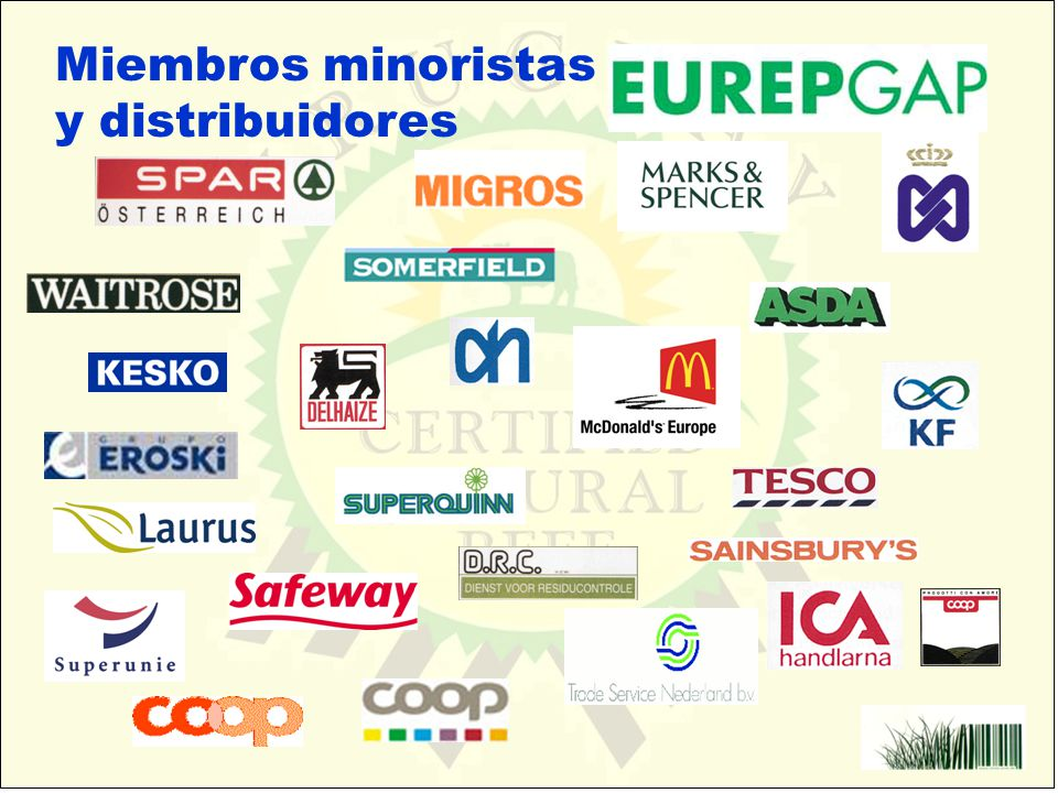 Miembros minoristas y distribuidores