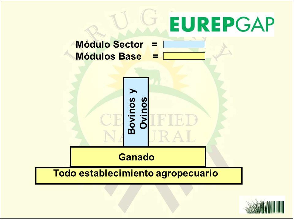 Módulo Sector = Módulos Base = Bovinos y Ovinos Ganado Todo establecimiento agropecuario