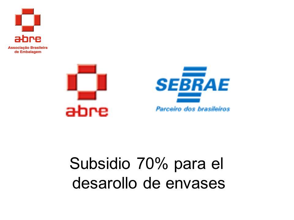 Subsidio 70% para el desarollo de envases