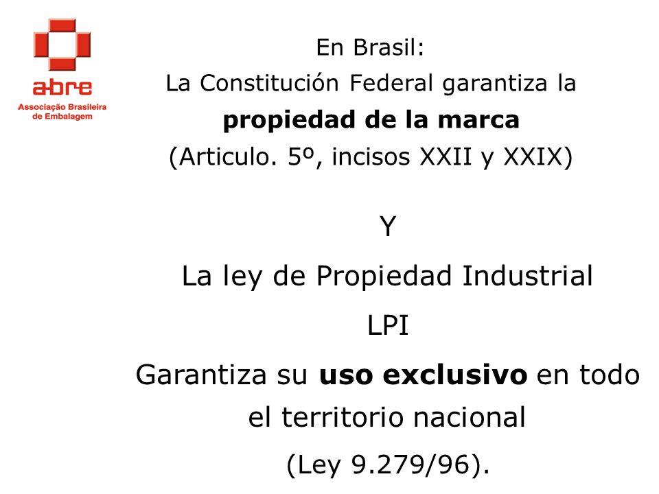 La ley de Propiedad Industrial LPI