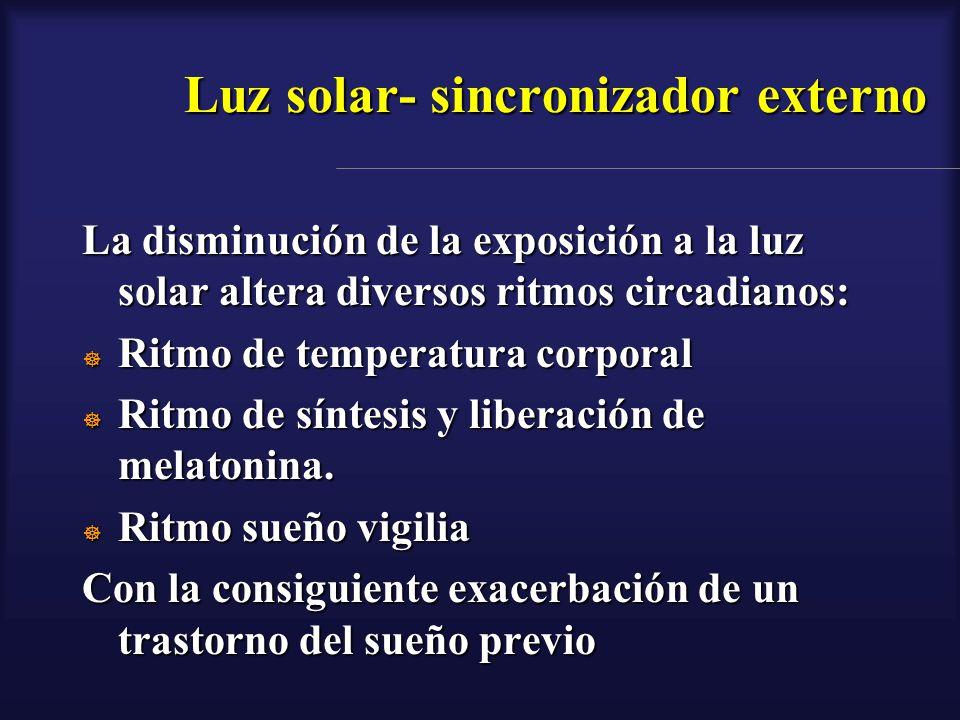 Luz solar- sincronizador externo