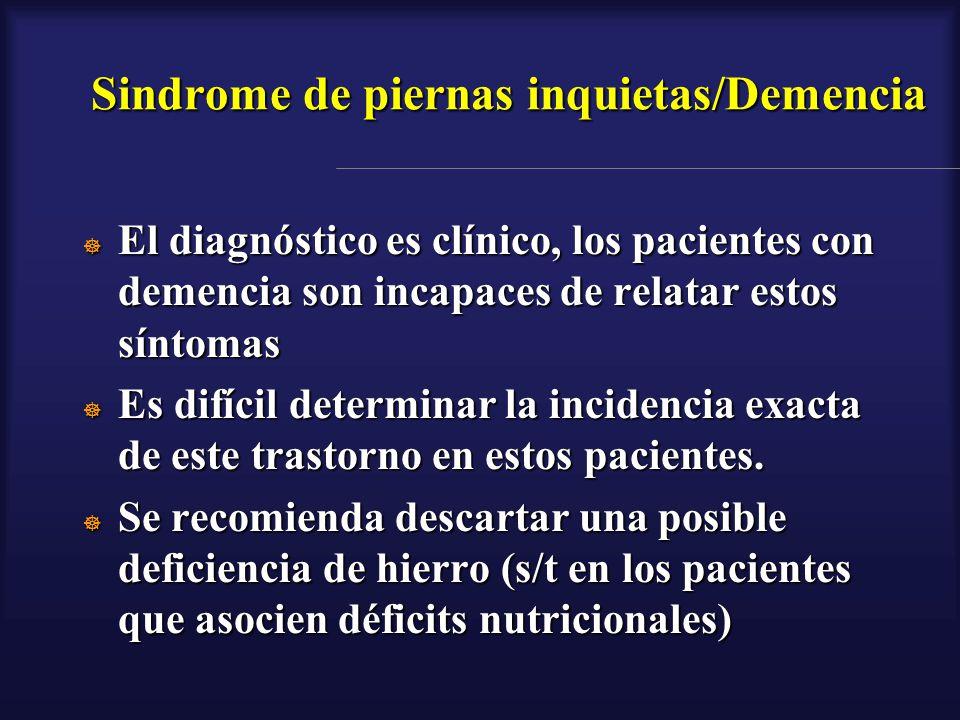 Sindrome de piernas inquietas/Demencia