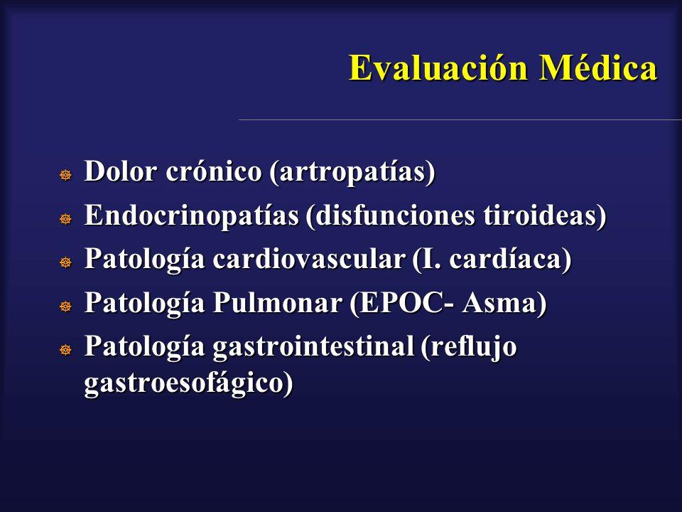 Evaluación Médica Dolor crónico (artropatías)
