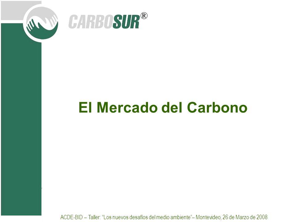 El Mercado del Carbono Selección de slides de presentacion realizada en curso de SGS.