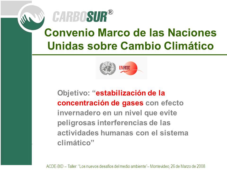 Convenio Marco de las Naciones Unidas sobre Cambio Climático