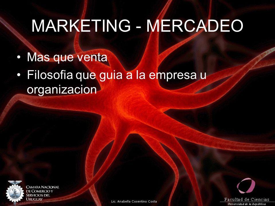 MARKETING - MERCADEO Mas que venta