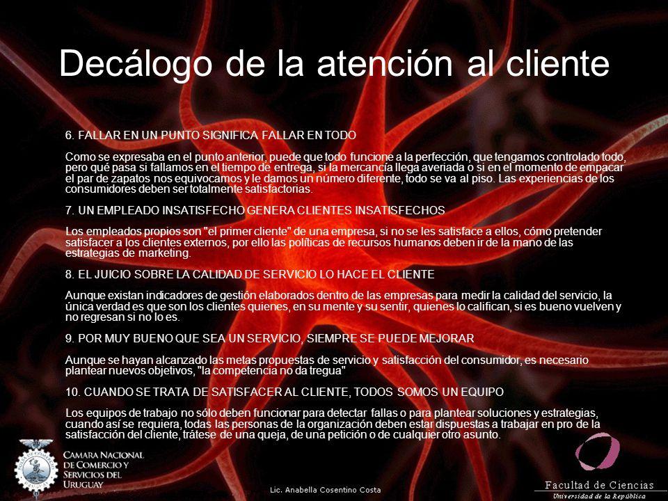 Decálogo de la atención al cliente