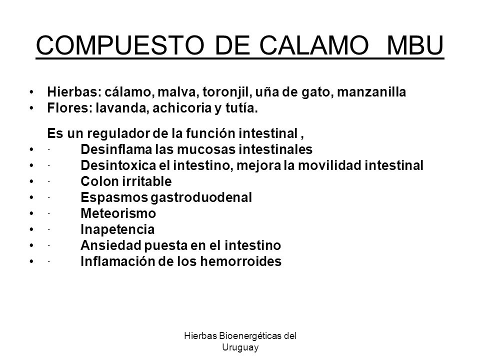 COMPUESTO DE CALAMO MBU