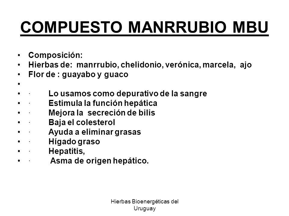 COMPUESTO MANRRUBIO MBU